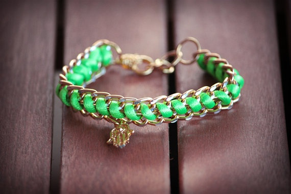 double chain bracelet by chrikou on Etsy, €10.00