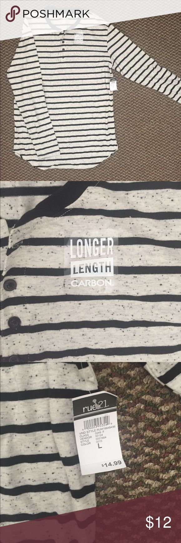 Men's Henley Shirt w/Tags LRG Henley Shirt Rue 21 Shirts Tees - Long Sleeve