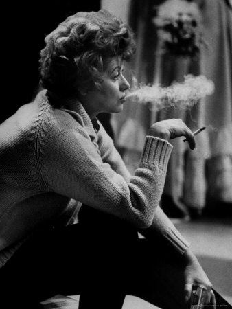 """Leonard McCombe - Lucille Ball Smoking on Show Called """"The Good Years"""""""