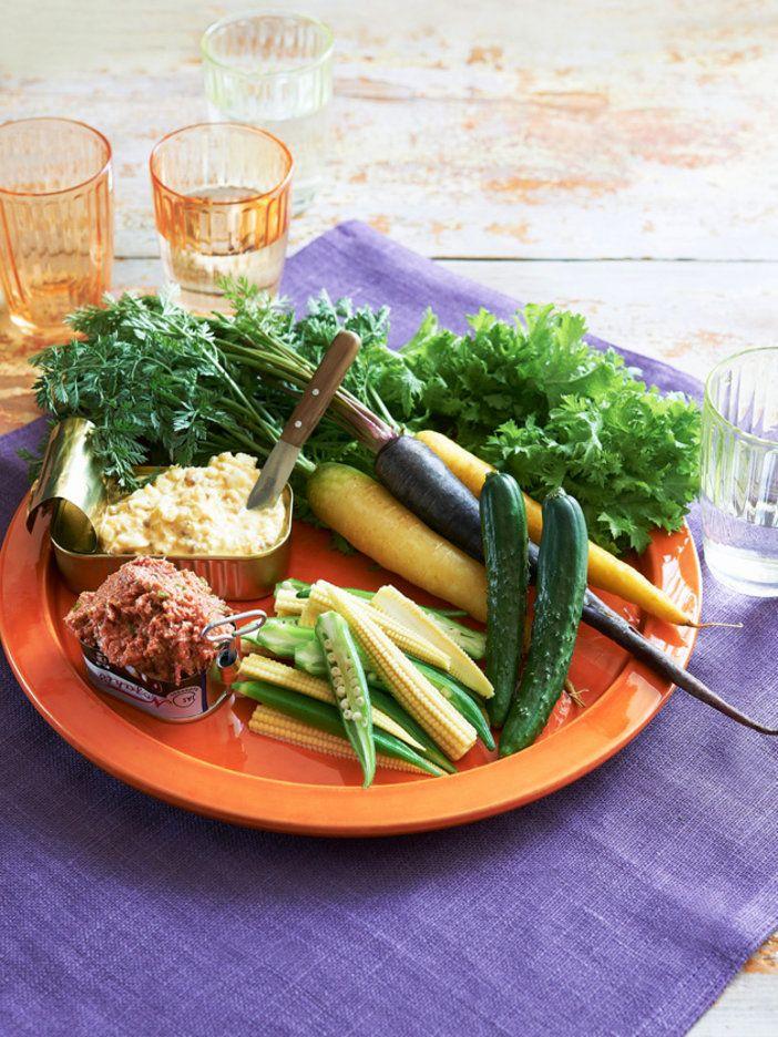 見た目も豪華! 缶詰ディップで即席バーニャカウダ|『ELLE a table』はおしゃれで簡単なレシピが満載!