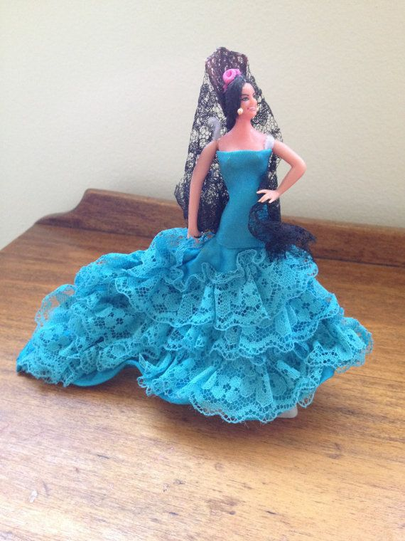 Doll  Vintage Spanish Dancer Figurine by SageandDeesVintage