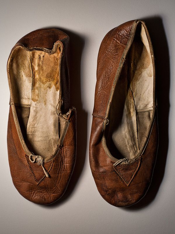 """Slippers worn by Nijinsky in """"Spectre de la Rose"""" 1911"""