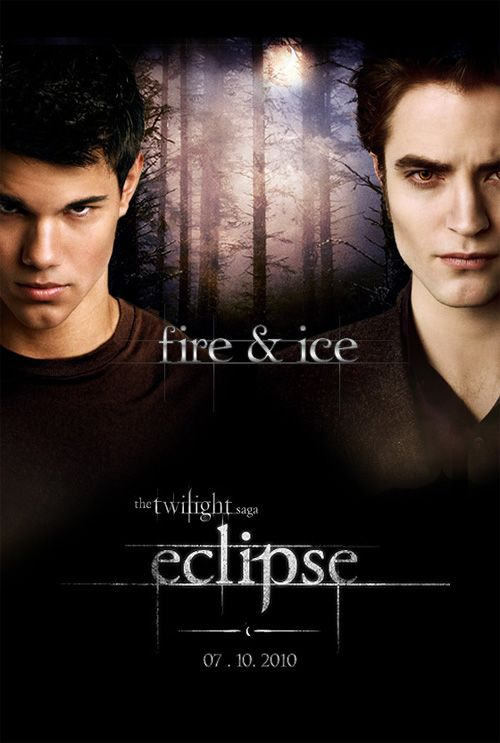 eclipse film poster, jacob and Edward