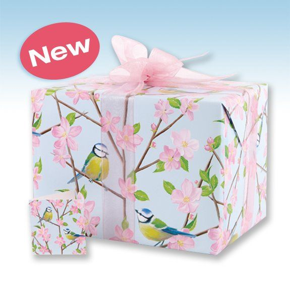 This Phoenix Trading gift wrap is so pretty, especially with the pink organza ribbon.