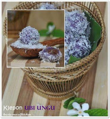 KRISTA MOCAF KITCHEN: Klepon Ubi Ungu - Indonesian Traditional Snack