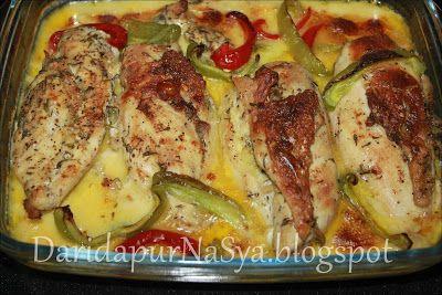 Dari Dapur NaSya: Dada Ayam Panggang Berkrim