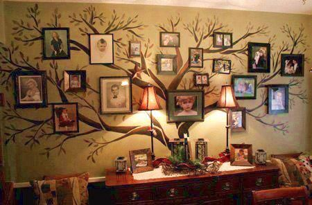 "I love this!!! All those ""family tree"" wrought iron picture displays are always too small. :)"