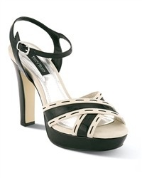 Stitched Crossband Heel: White Shoes, White Houses, Crossband Heels, Sandals Heels, Black And White, Black Marketing, Shoes Obsession, Cute Sandals, Houses Black
