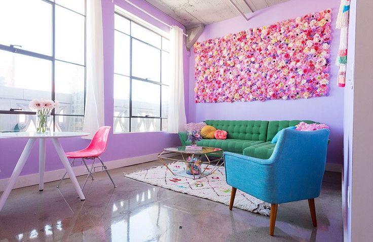 Essa apartamento é um arco-íris