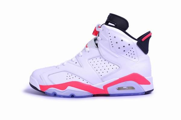 384664-123 Air Jordan 6 Retro White/Infrared-Black 2014. $128    http://www.jordankicksonfires.com/men-size-384664-123-air-jordan-6-retro-infrared-white-infrared-black-2014-695.html