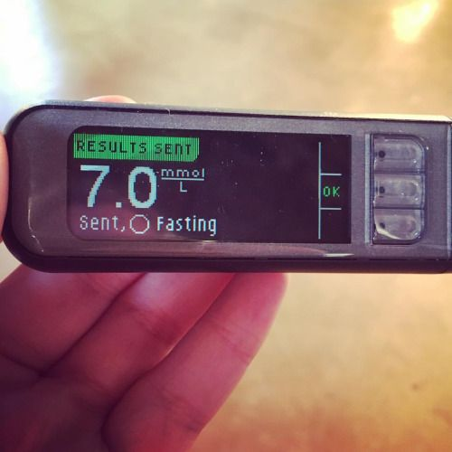 Always good waking up with a blood sugar reading that is right...