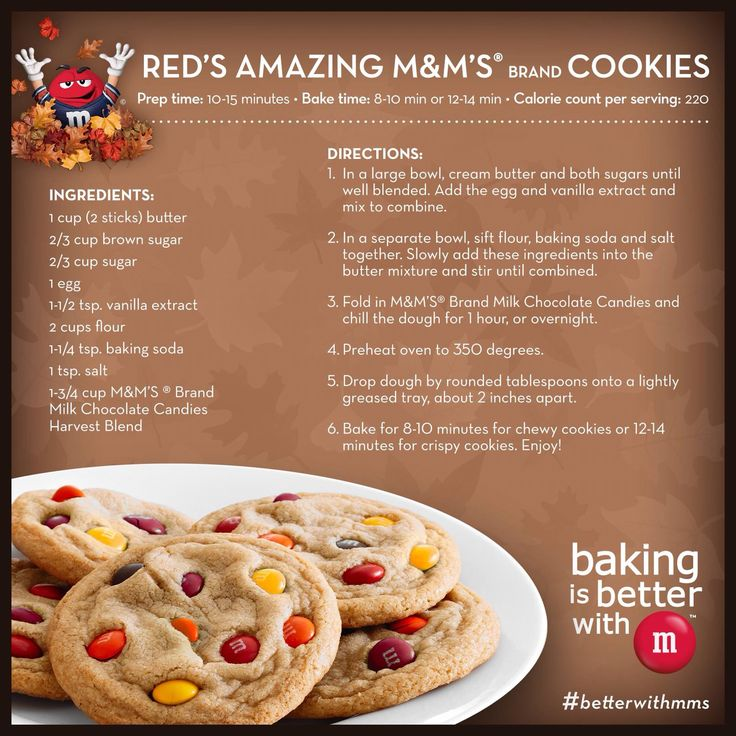 Amazing M&M's ® brand Cookies | Recipes for Baking & matters ...