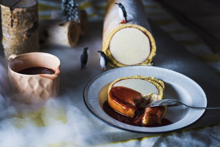 Yeo Valley's Arctic Roll with Hot Jam Sauce Recipe