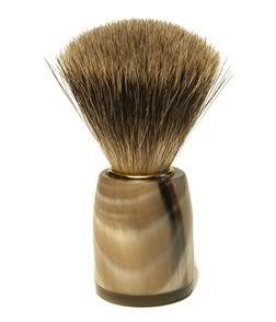 Horn Shaving Brush From GreatEnglish.co.uk