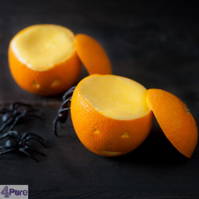 Orange bavarian cream for Halloween Eve - a delicious dessert for Halloween, looking like a pumpkin, tastes like oranges. How to on the blog.