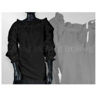 Chemise pirate pour femme-Noir. Item can be found at http://www.larpcanada.com