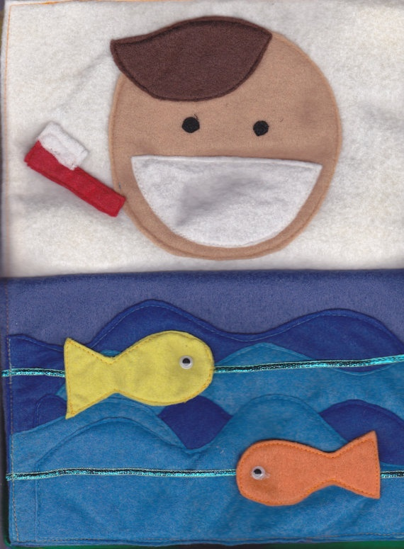 toothbrush page, could do teeth differently so they can floss and brush, add germs...ocean make more sea life,coral etc