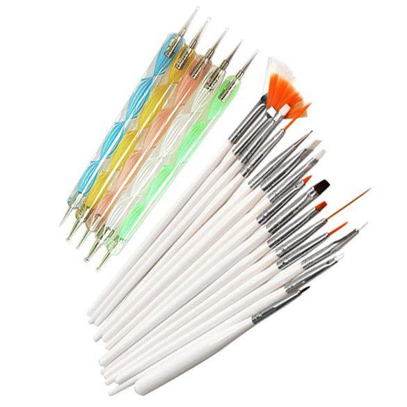 20pcs Nail Art Design Set Dotting Painting Drawing Polish Brush Pen Tools Nail Polish Art Brush