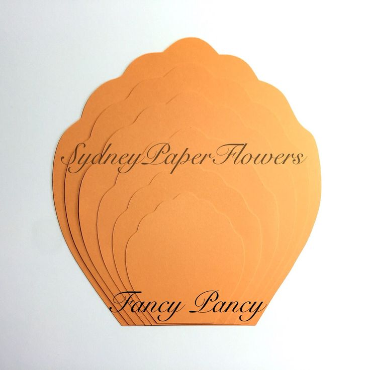 peony leaf template paper leaf template paper flower template paper ...