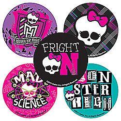Sticker Pack   Monster High Round   75 Ct