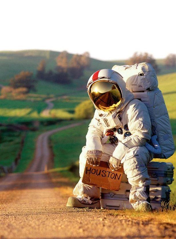 Прикольная картинка про космос, открытки днем