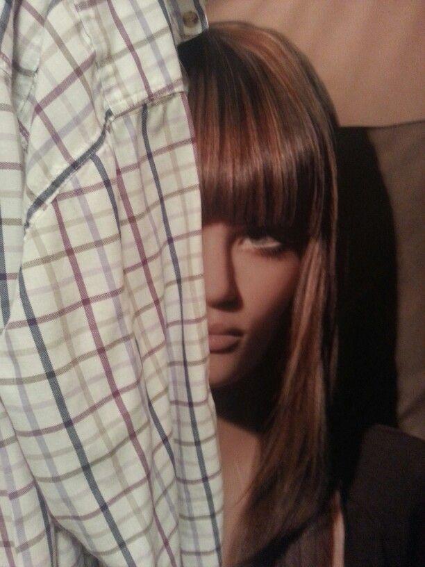 In the closet...