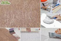 Como aplicar a textura grafiato passo a passo