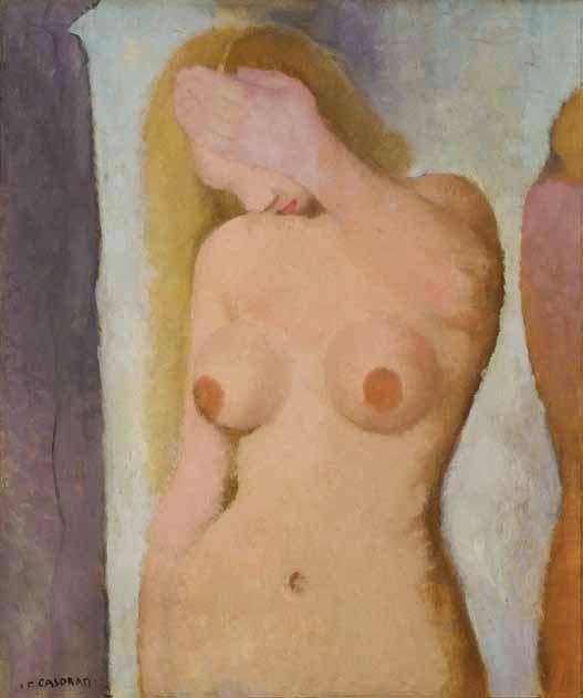 Felice Casorati - Nudo confidenziale, 1932 Olio su tela, 64 x 53,5 cm Photo © Emanuele Fusco