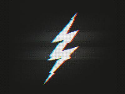 A nice little glitched lightning bolt :>