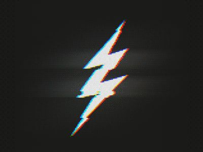 A nice little glitched lightning bolt :>