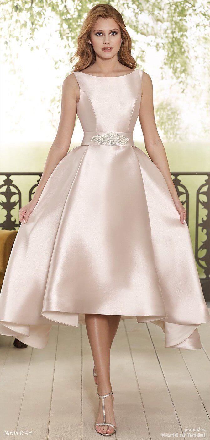 Novia D Art 2018 Wedding Dresses World Of Bridal Hi Low Wedding Dress Short Wedding Gowns Wedding Gown Inspiration [ 1400 x 670 Pixel ]