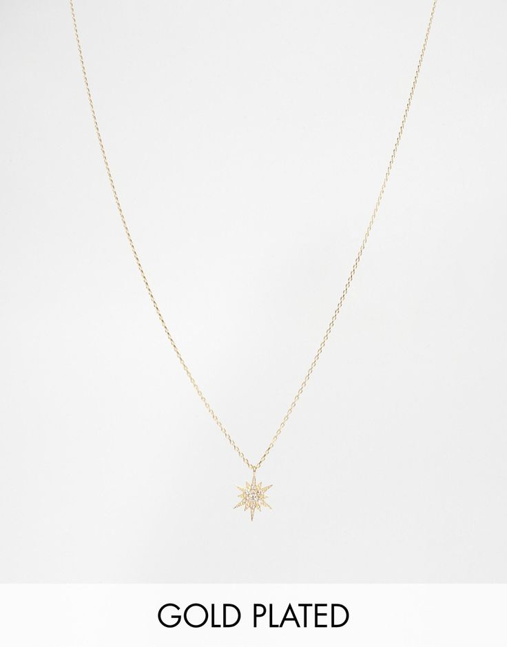 Image 1 of Estella Bartlett Starburst Star Necklace