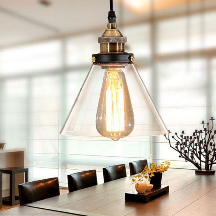 2x modern industrial vintage glass shade pendant ceiling fixture home lighting pendant lampsindustrial