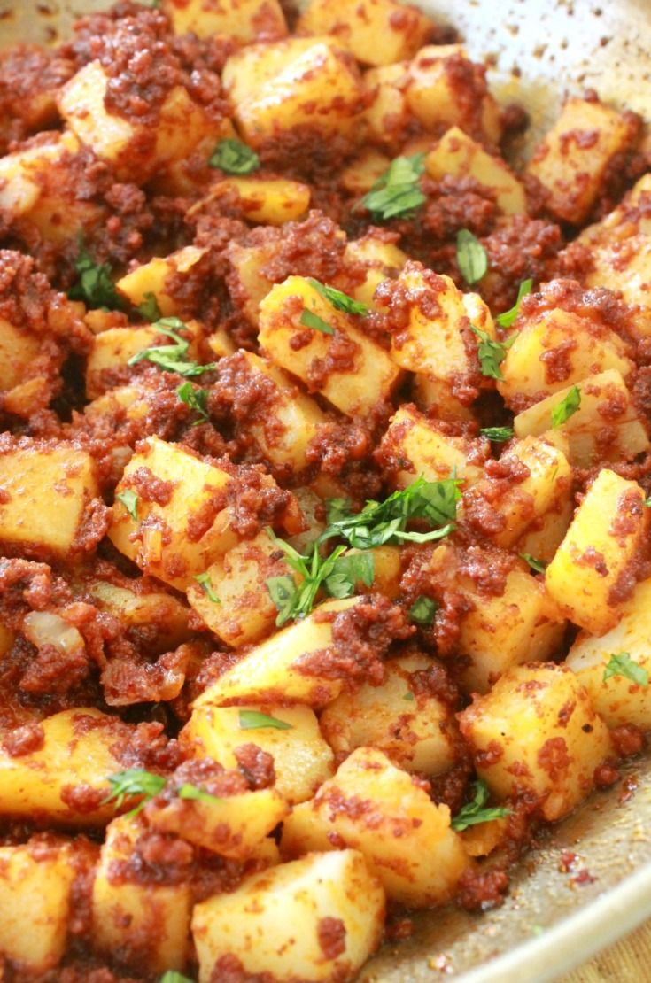 Chorizo con Papas (Mexican Chorizo with Potatoes)