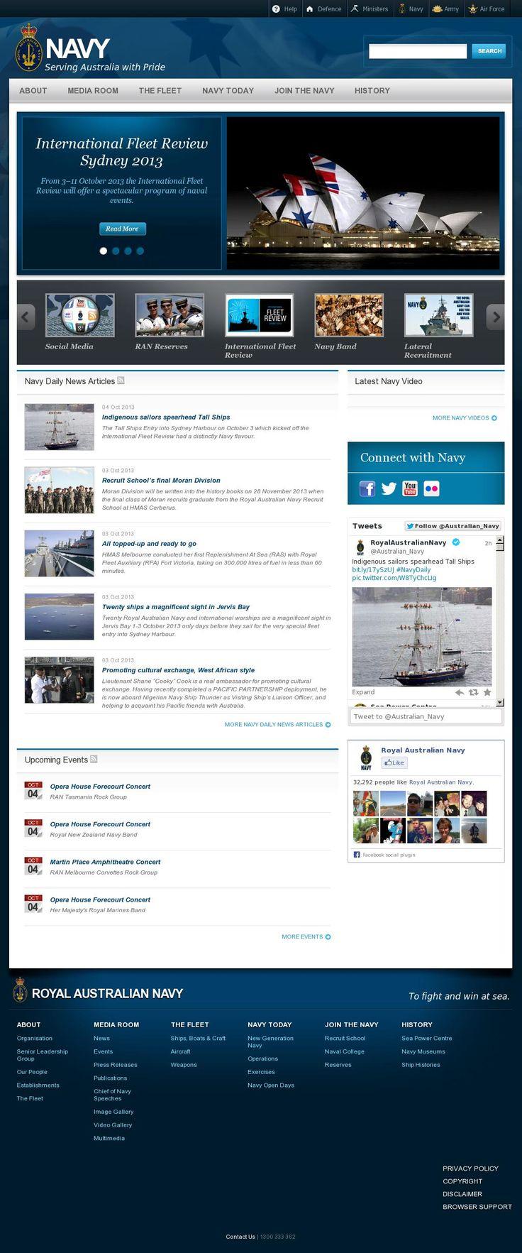 The website 'http://www.navy.gov.au/' courtesy of @Pinstamatic (http://pinstamatic.com)