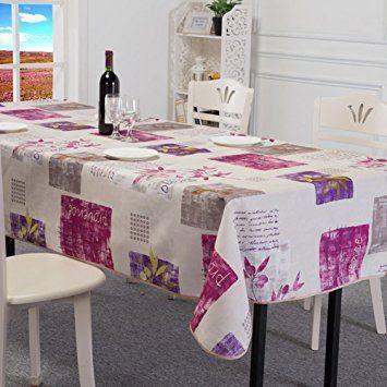 Amazon|北欧スタイル 柄 撥水加工 拭きやすい テーブルクロス テーブルカバー 長方形 150 × 200 cm ホワイト|テーブルクロス オンライン通販