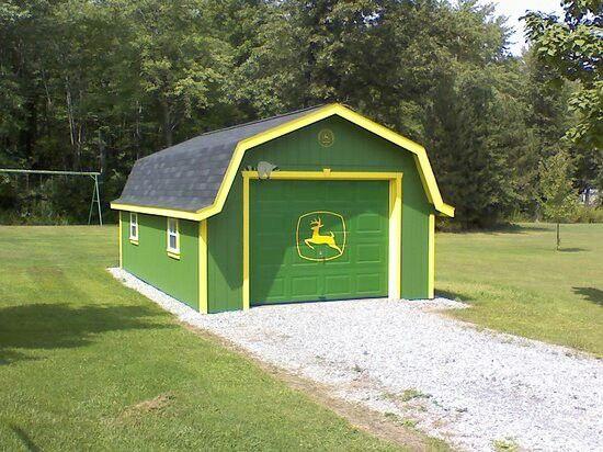 John deere shed