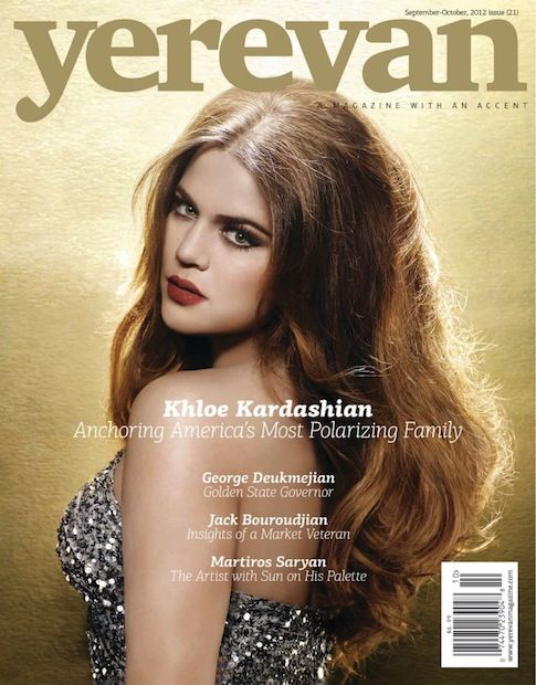 Khloe Kardashian Cover Story In Armenian Magazine Yerevan quiero ese maquillajeeee