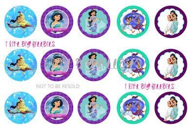 FREE Alladin bottlecap images / FREE Princess Jasmine bottlecap image