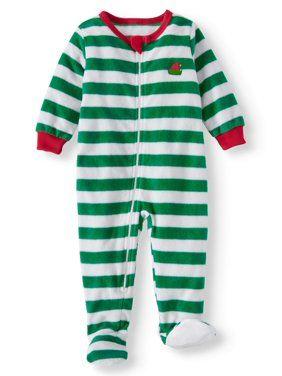 8b482aeaad4a Family Pjs Holiday Elf Selfie Blanket Sleeper (Baby Boys or Baby ...