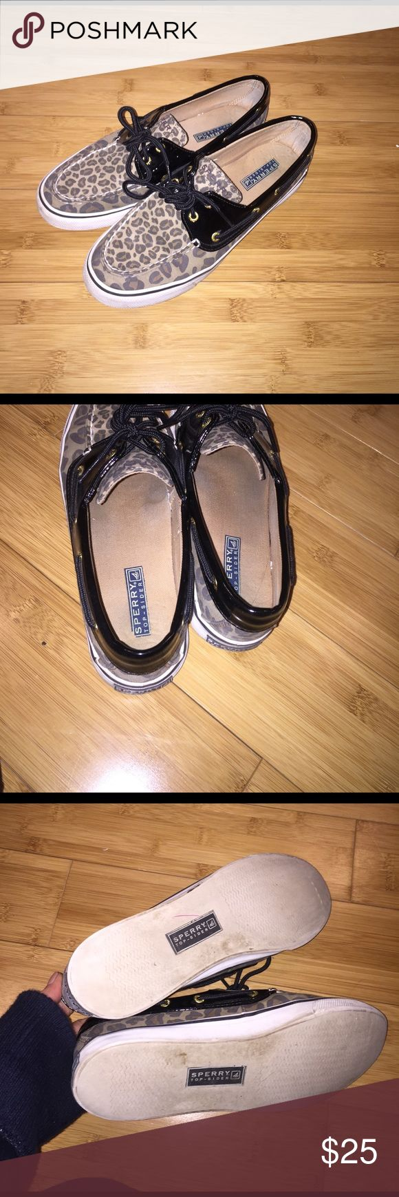 Leopard sperrys Decent shape size 8 womens Sperry Top-Sider Shoes Flats & Loafers
