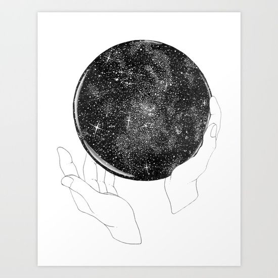 The Stargazer's Future is the Past Art Print