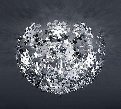 dettagli su lampadario moderno acciaio cromo plafoniera lampada soffitto salone cucina bagno