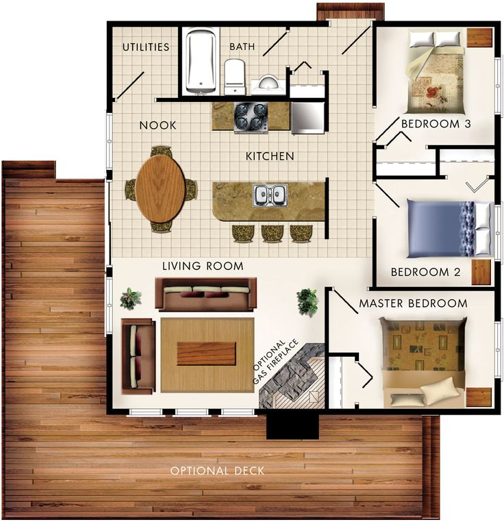 334 best small house plans images on pinterest | cottage house