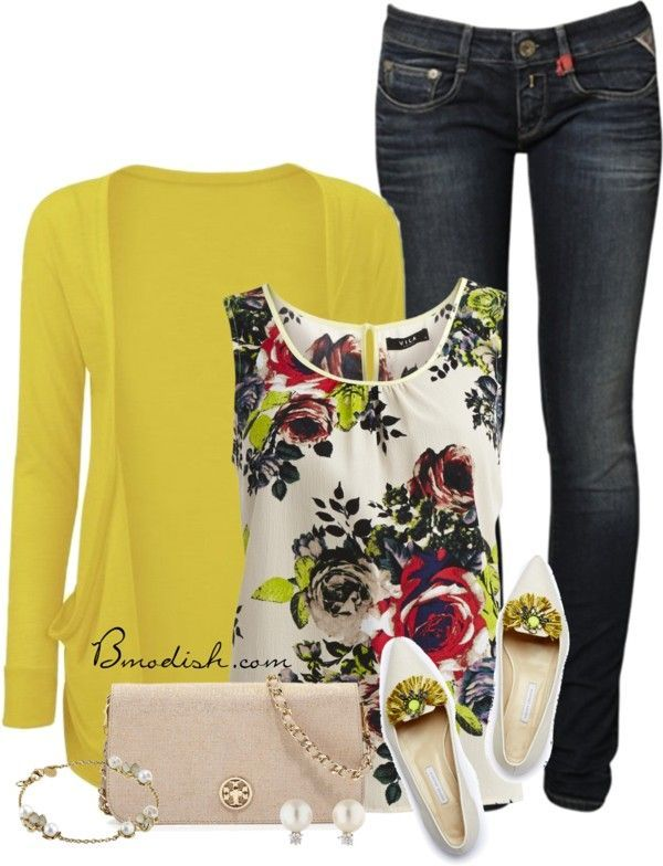 Vestir con un top con Flores - Outfits 13