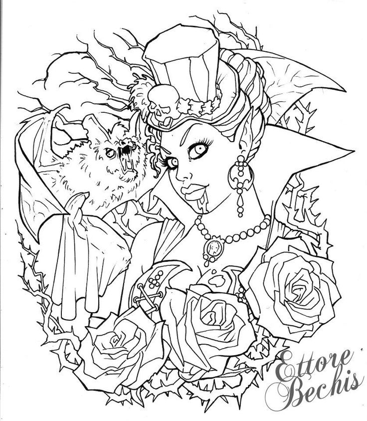 Vampire Coloring On Pinterest Dovers Jasmine And Pages