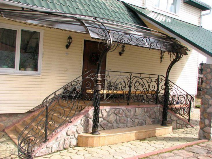 Металлическое крыльцо частного дома: 20 фото и идей