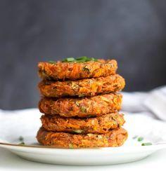 Kohlrabi Karotten Puffer - vegan und glutenfrei
