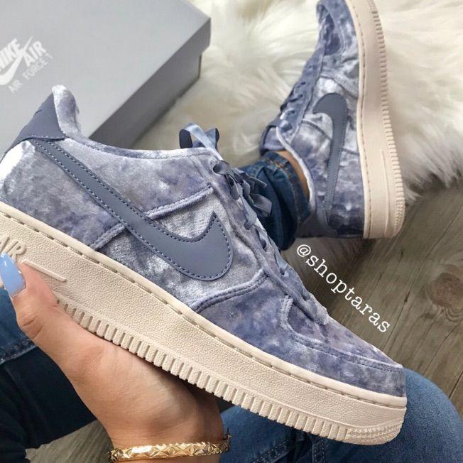 blue velvet air force 1's | Nike shoes