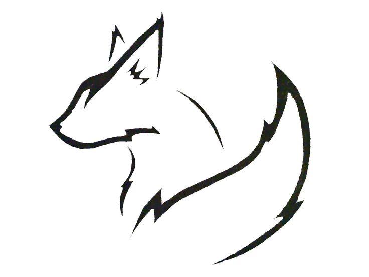 Simple fox head outline - photo#3